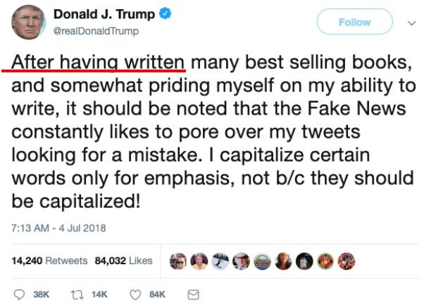 川普的语法错误都隐藏在考点里