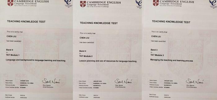 刘琛努力通过TKT英语考试
